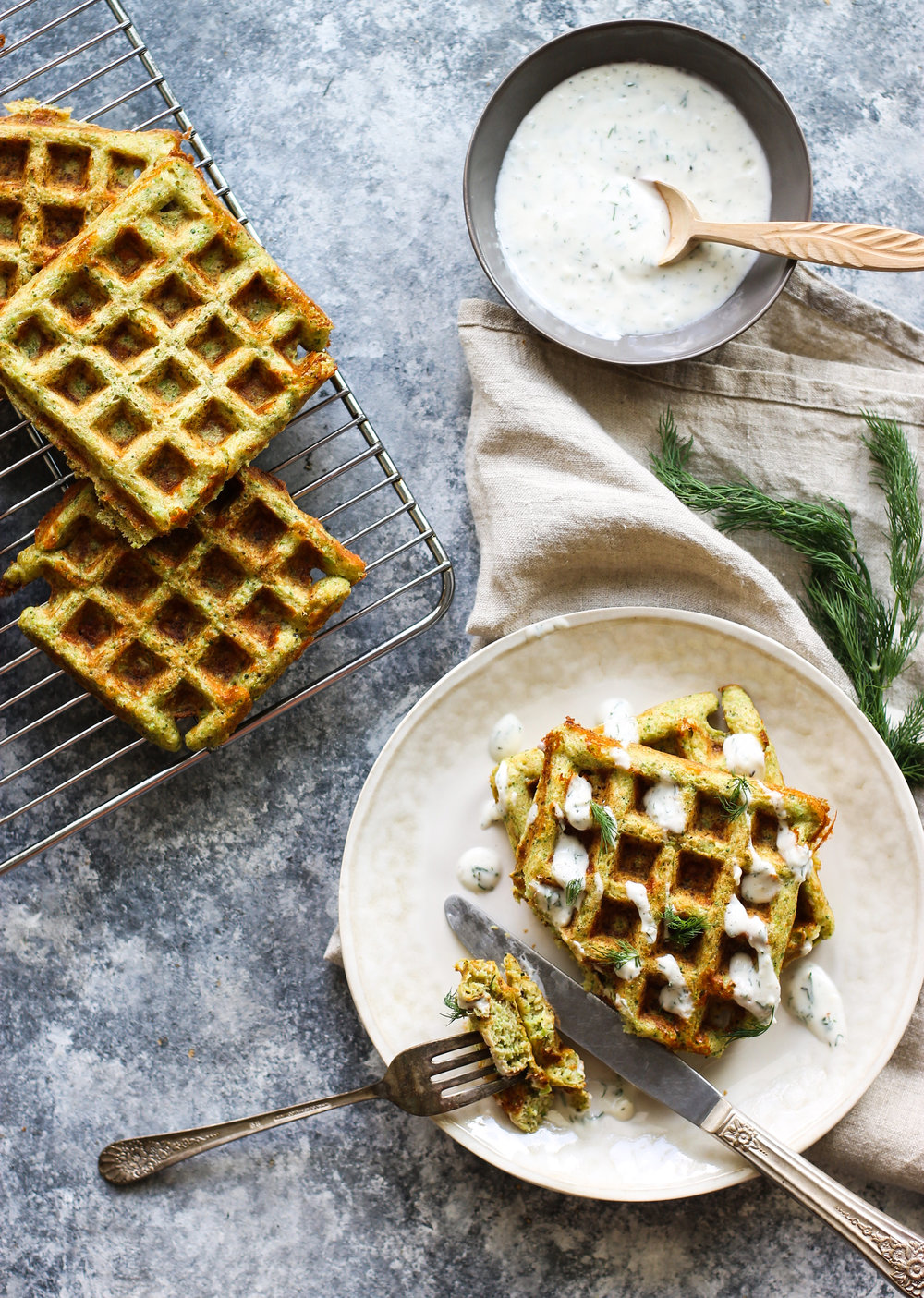 Easy White Cheddar Broccoli Waffles: My Diary of Us