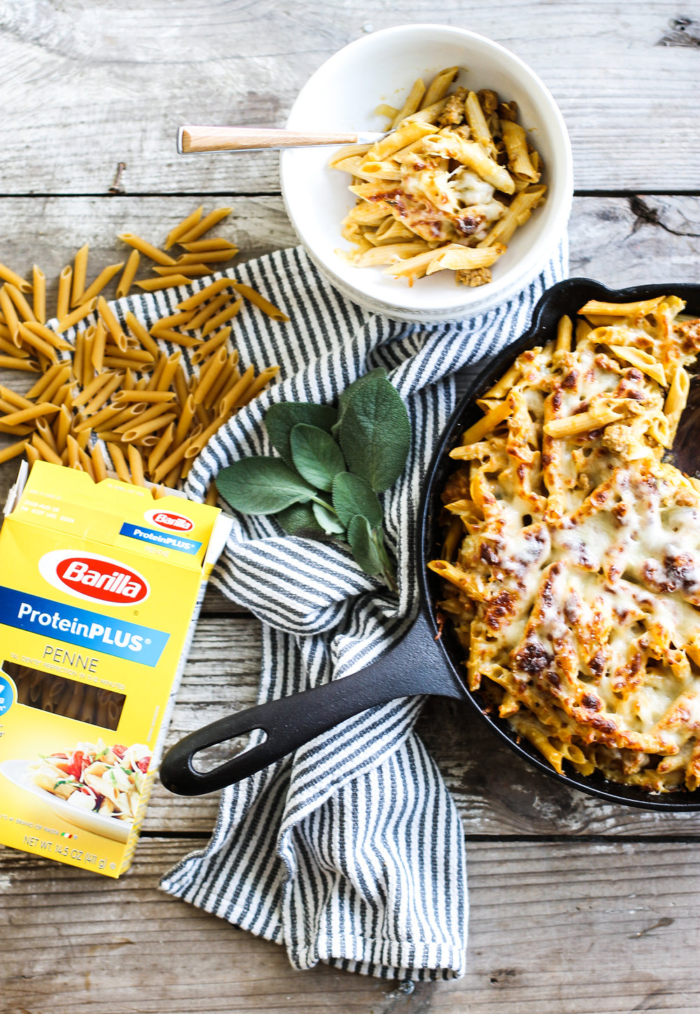 Easy Pumpkin and Sausage Baked Ziti