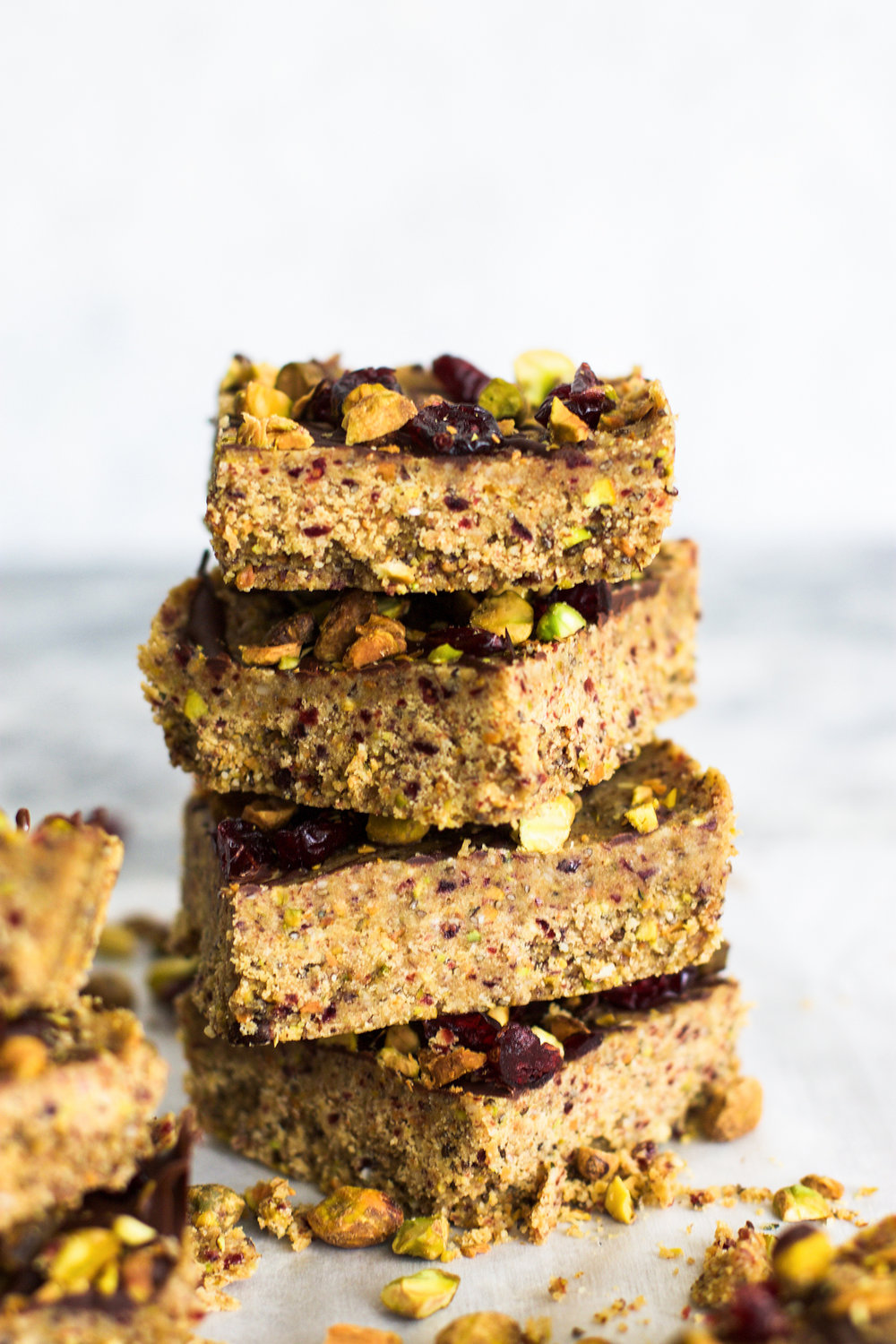 Gluten Free Pistachio Cranberry Protein Bars: My Diary of Us
