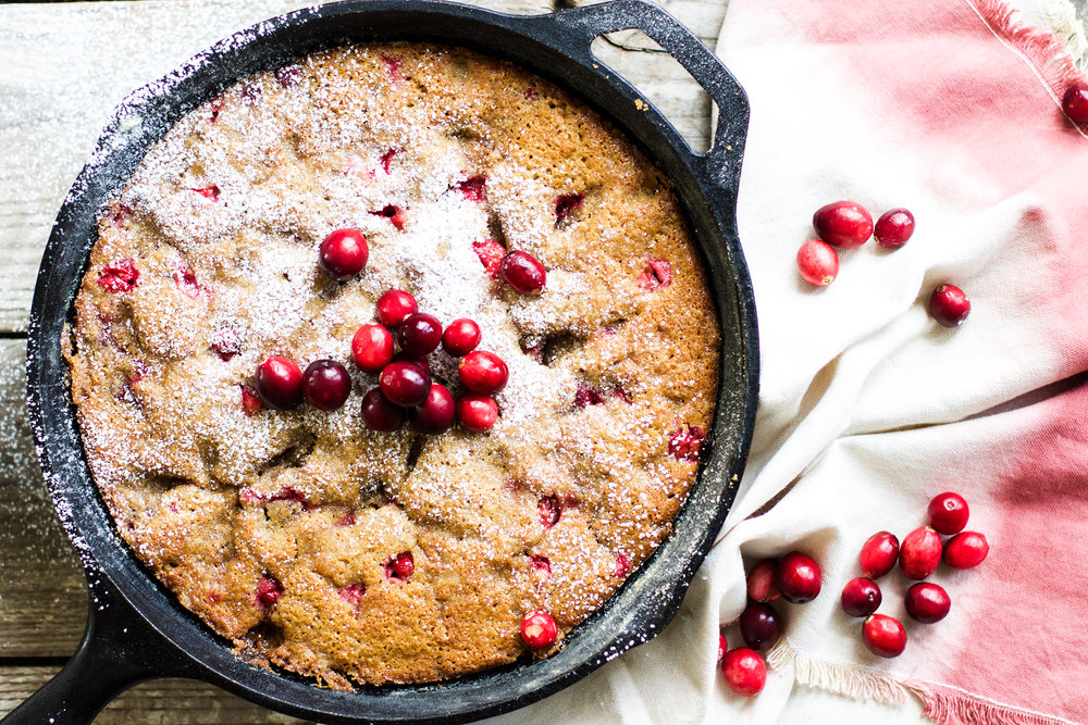 Easy Cranberry Skillet Cake: My Diary of Us