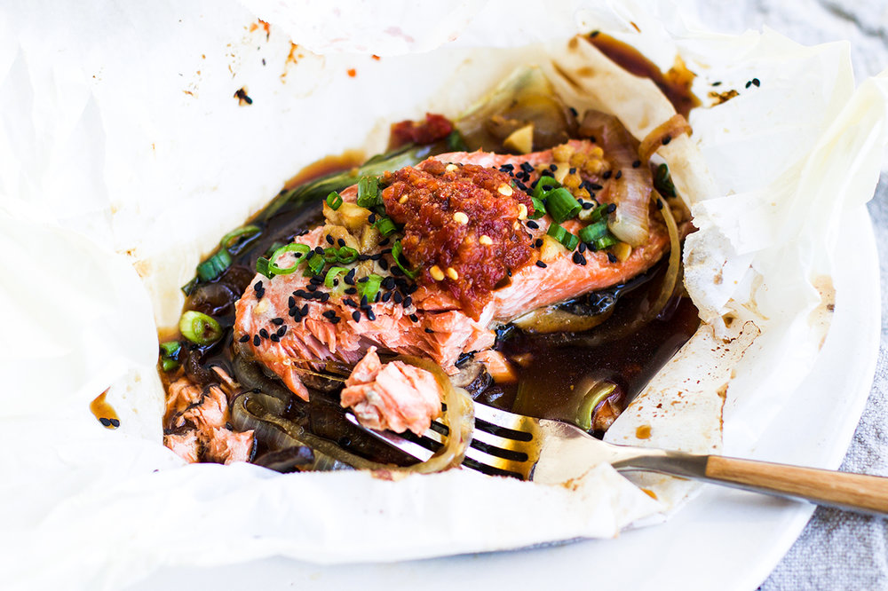Quick and Easy Asian Salmon Packets: My Diary of Us