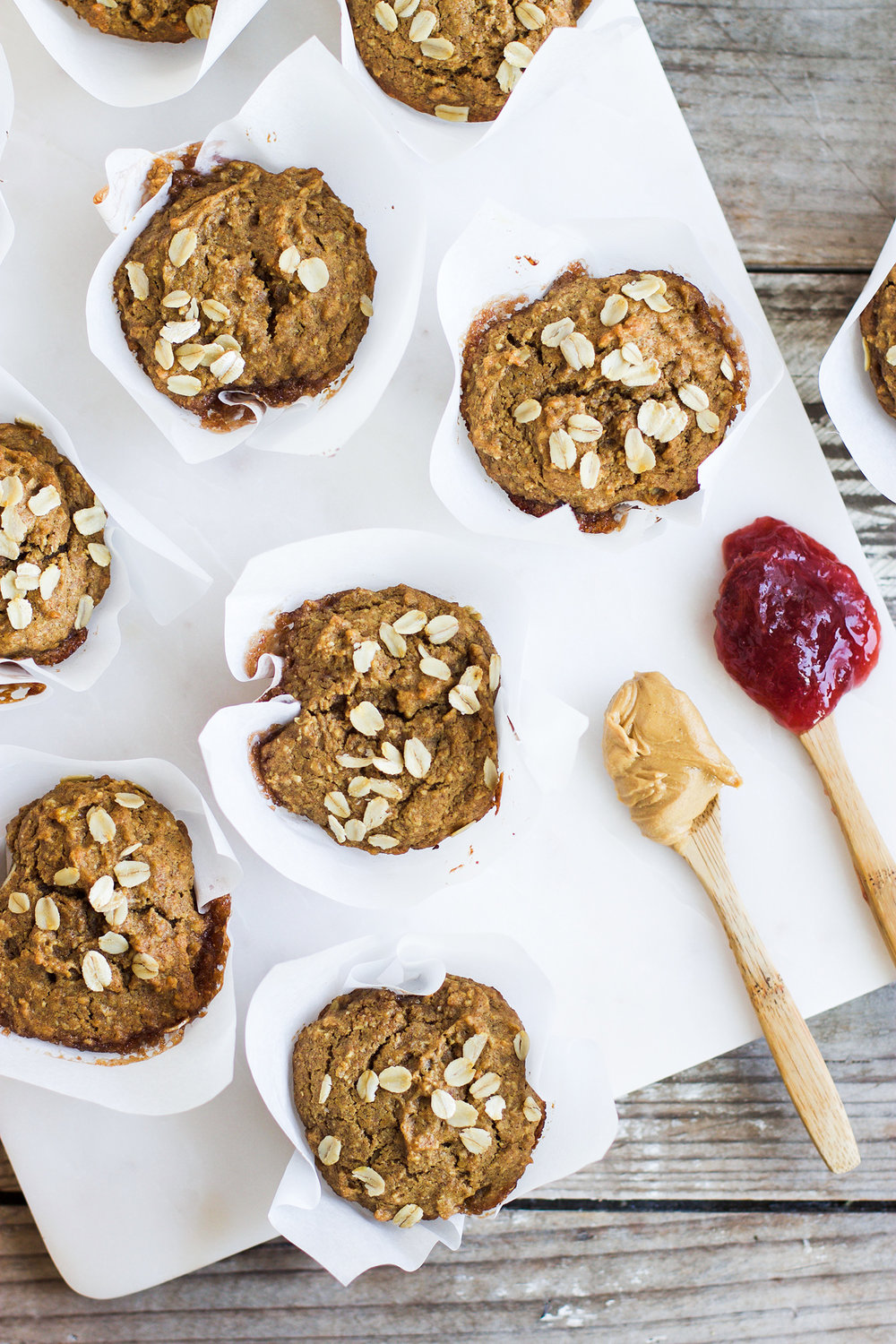Healthy Peanut Butter and Jelly Oatmeal Muffins: My Diary of Us