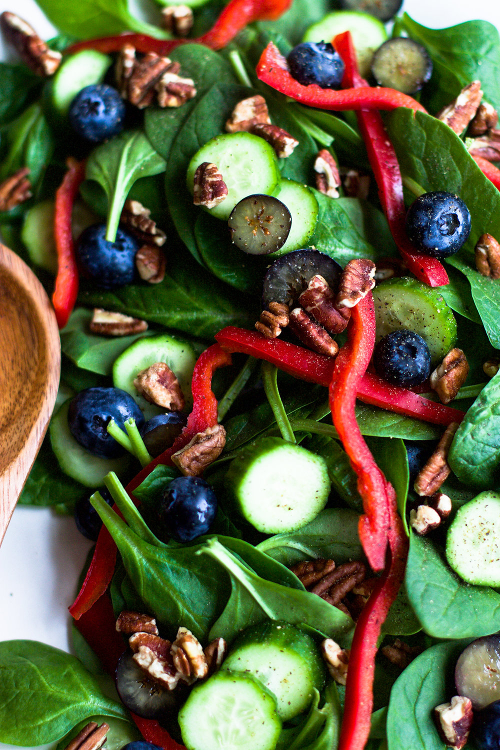 Turmeric and Mustard Apple Cider Spinach Salad: My Diary of Us