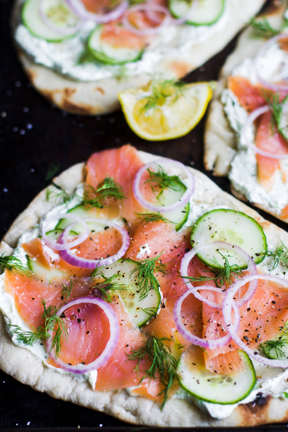Easy Lox and Herbed Cream Cheese Naan Pizzas: My Diary of Us