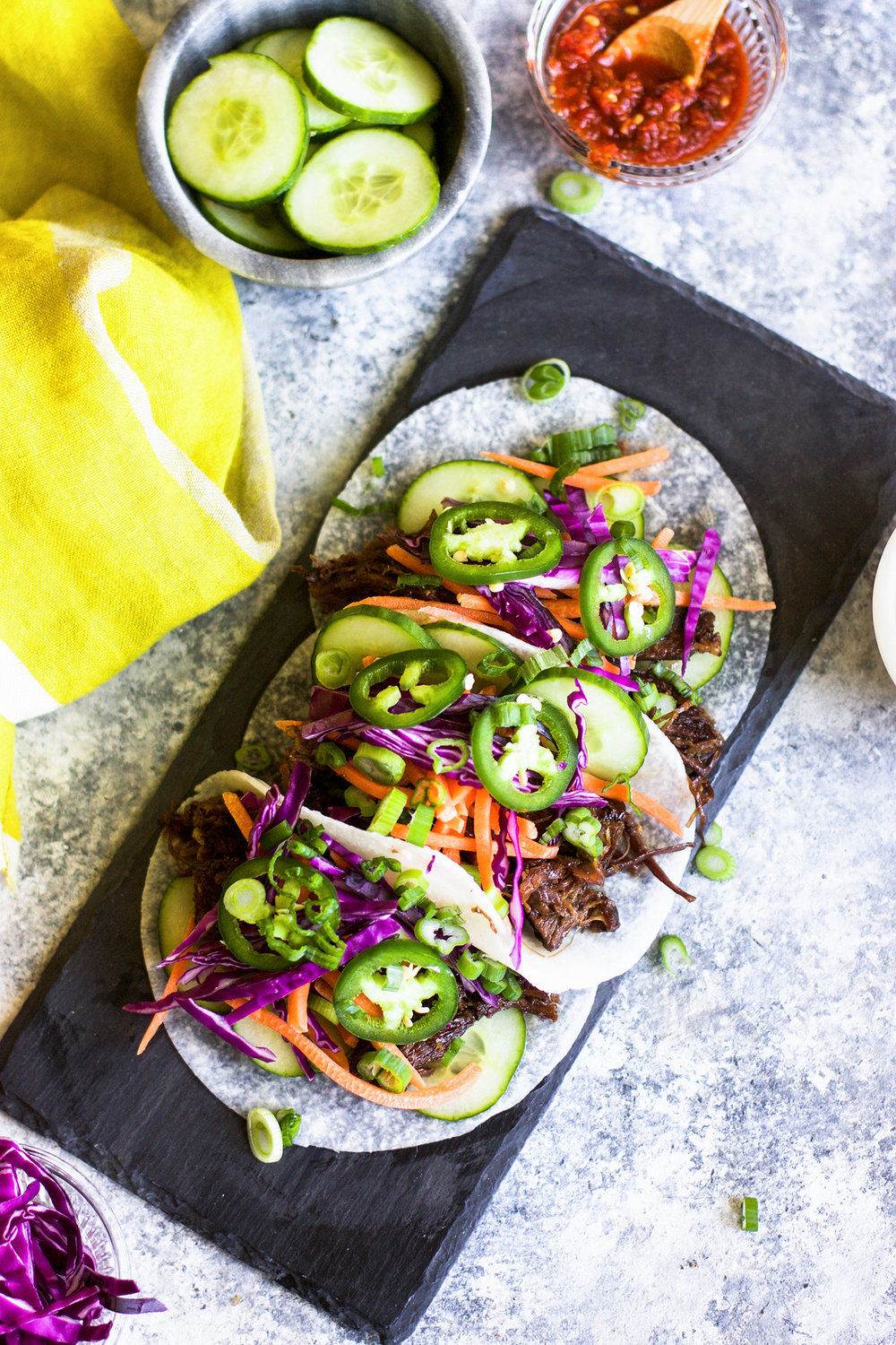 Slow Cooker Beef Bahn Mi Tacos: My Diary of Us