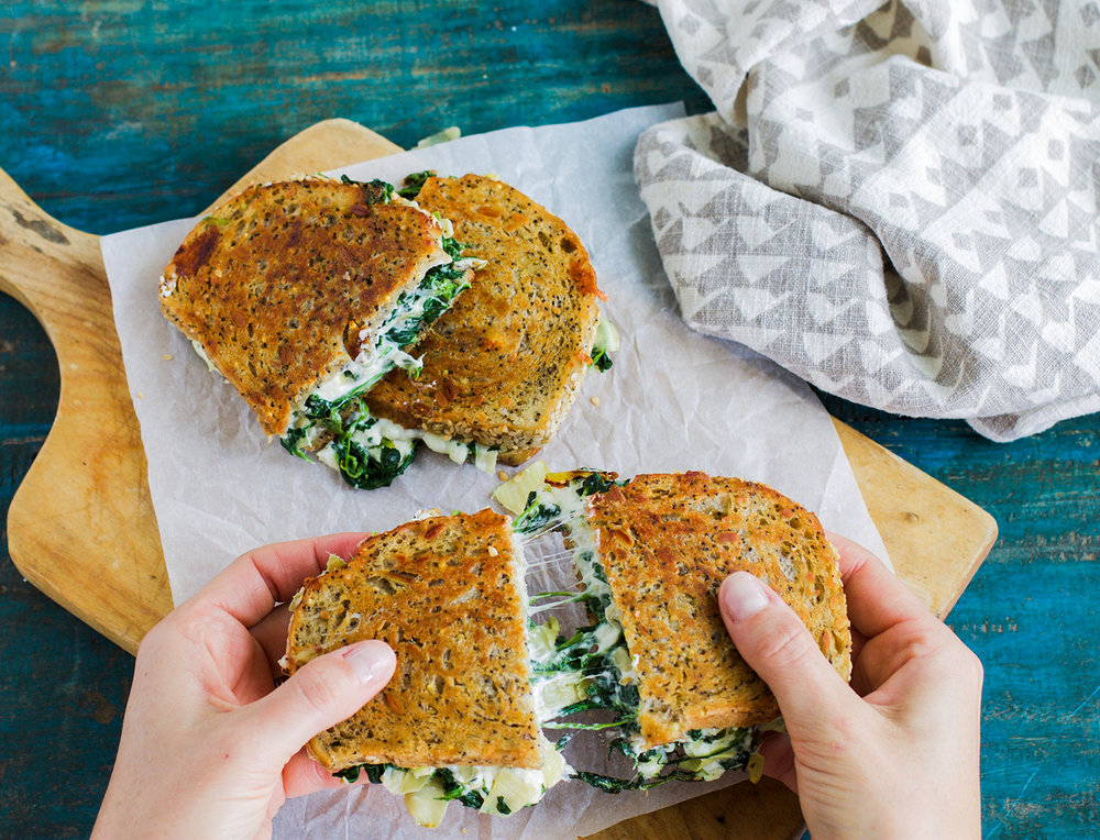 Spinach and Artichoke Grilled Cheese: My Diary of Us