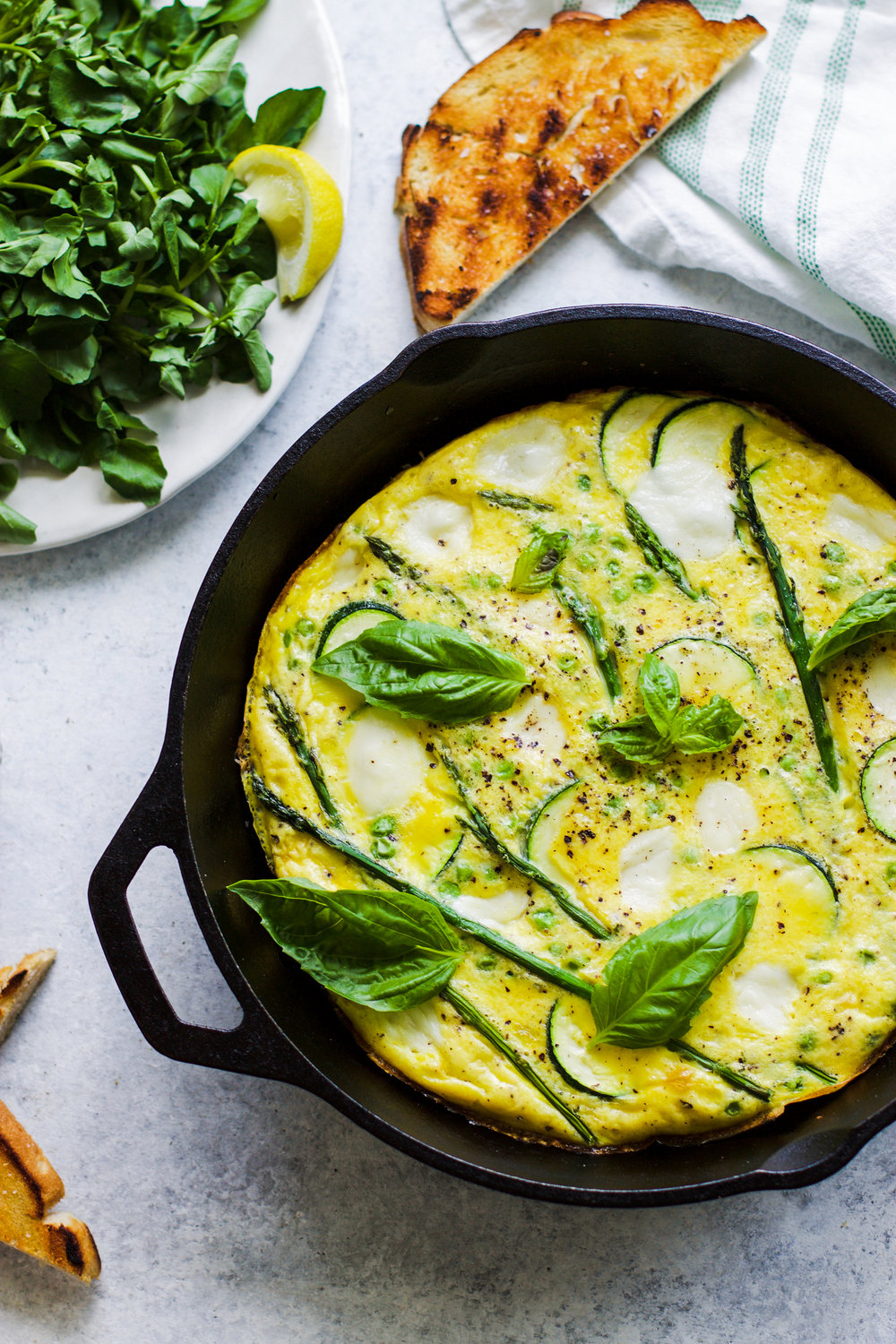 White Pizza Spring Frittata: My Diary of Us