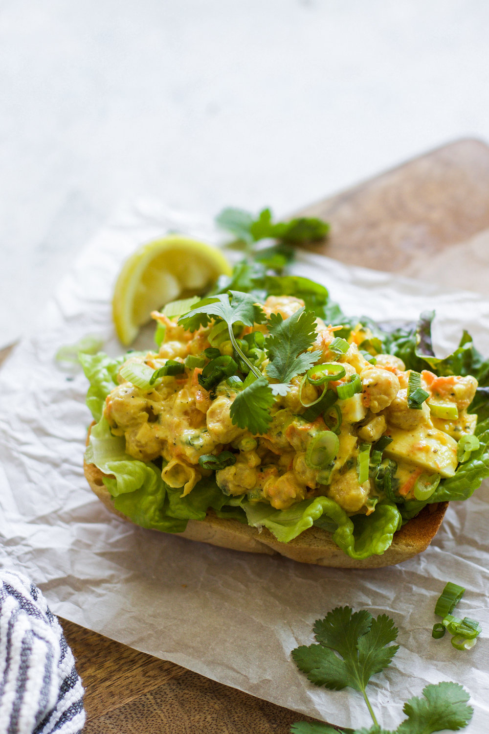 Healthy Curried Chickpea Salad: My Diary of Us