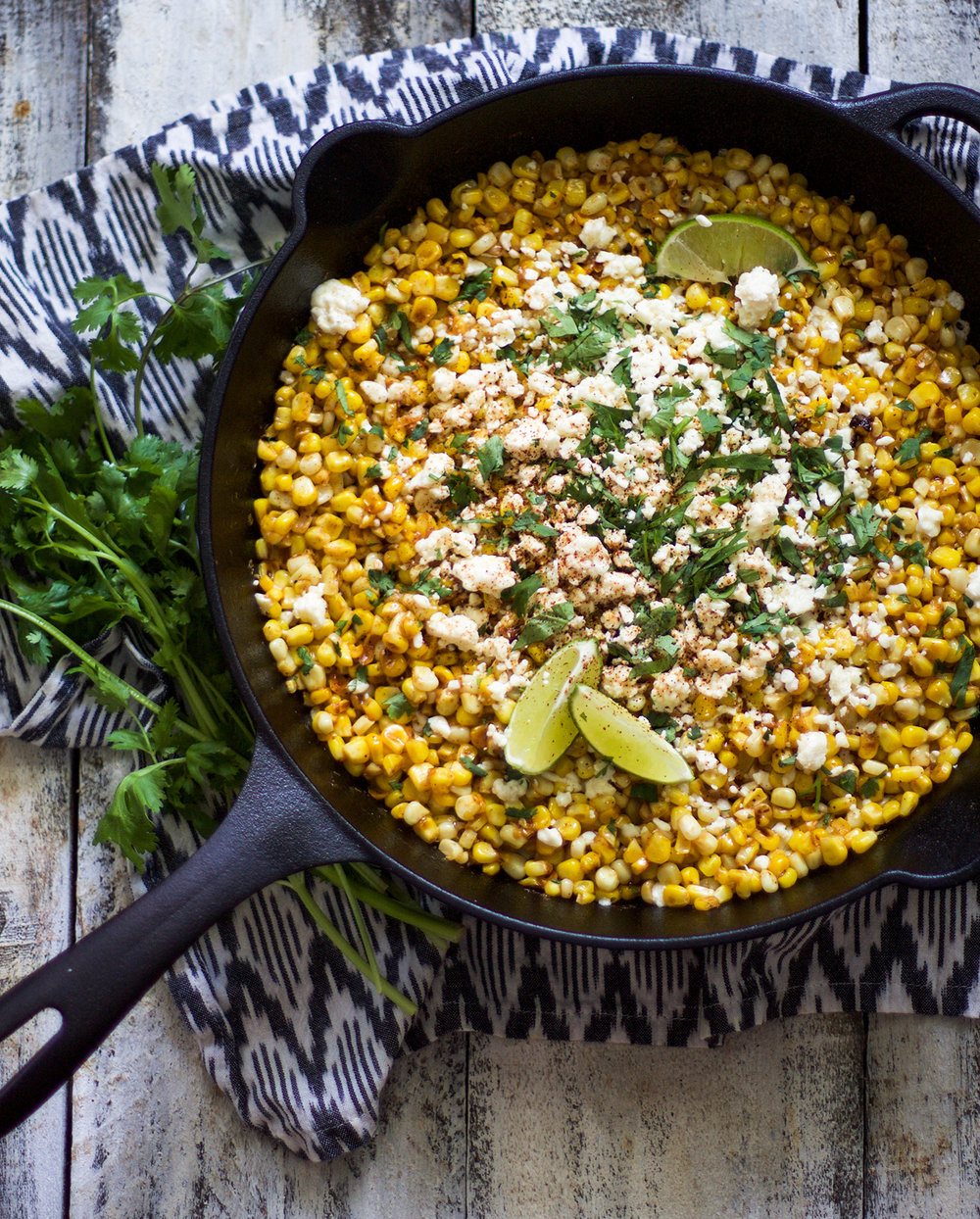 Easy Skillet Mexican Corn on the Cobb: My Diary of Us