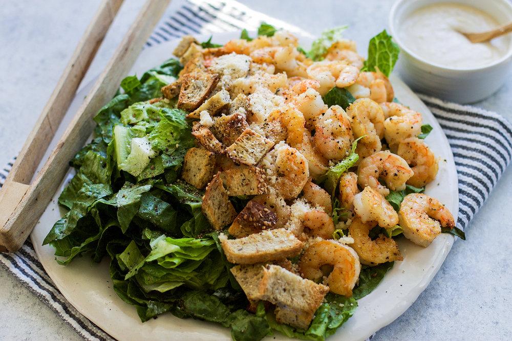 Healthier Shrimp Caesar Salad: My Diary of Us