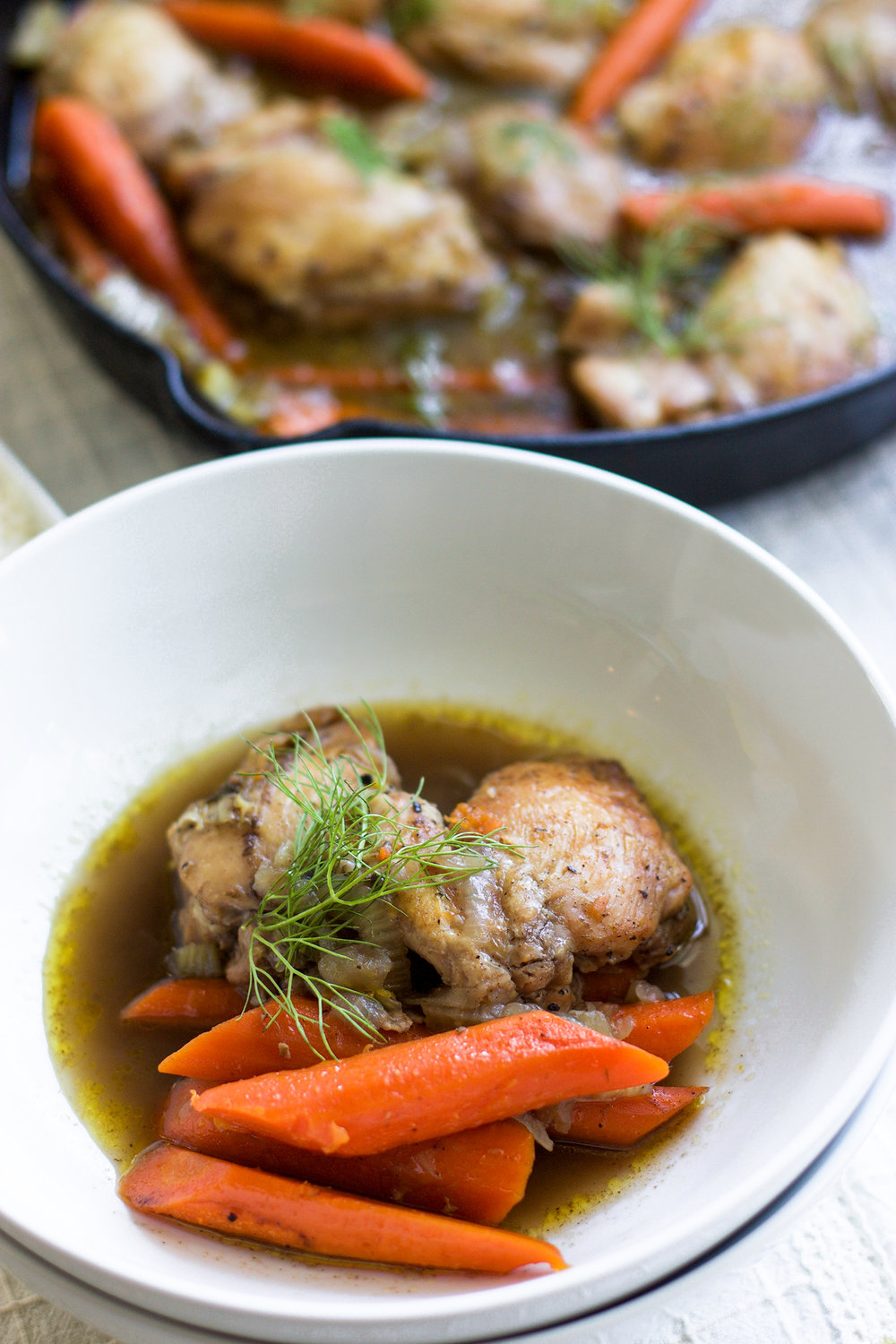 Spiced Citrus Fennel Braised Chicken Thighs and Carrots: My Diary of Us