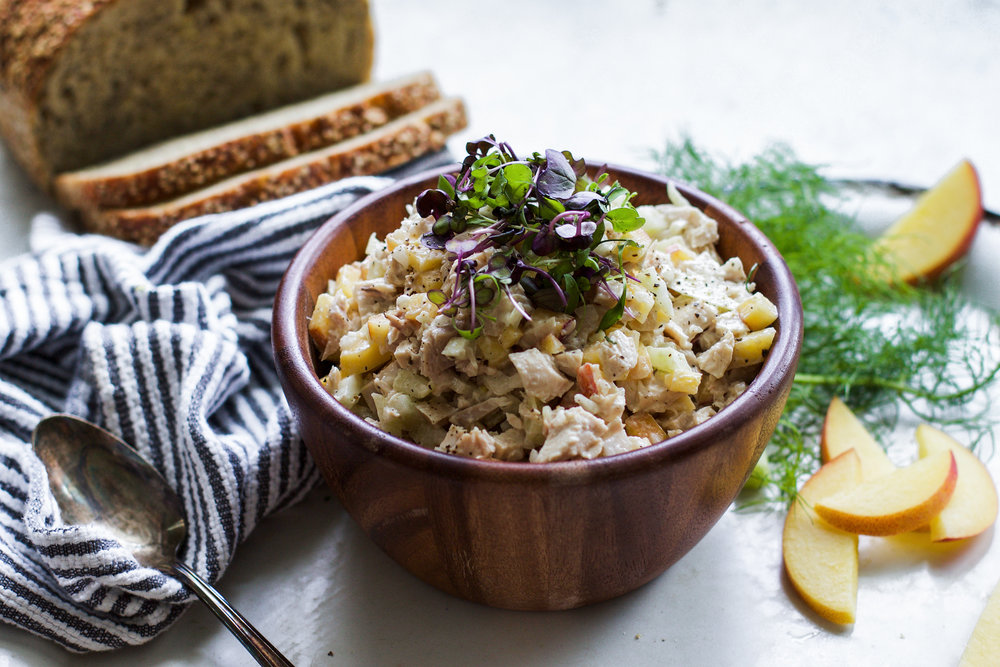 Peach and Fennel Chicken Salad: My Diary of Us