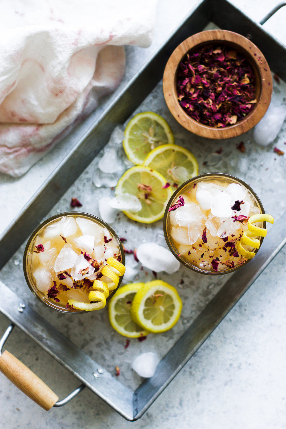 Lemon Rose Iced Tea: My Diary of Us