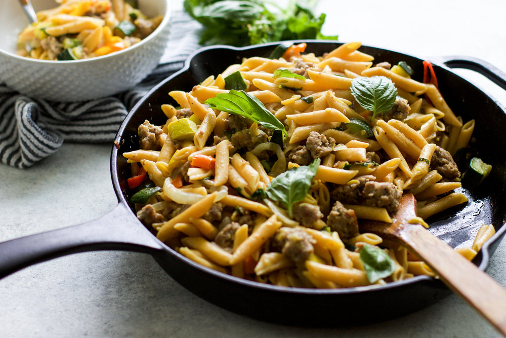 Gluten Free Italian Sausage and Pepper Pasta: My Diary of Us