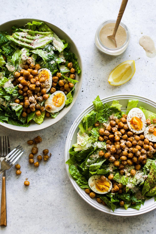 Sumac Roasted Chickpea Caesar Salad: My Diary of Us