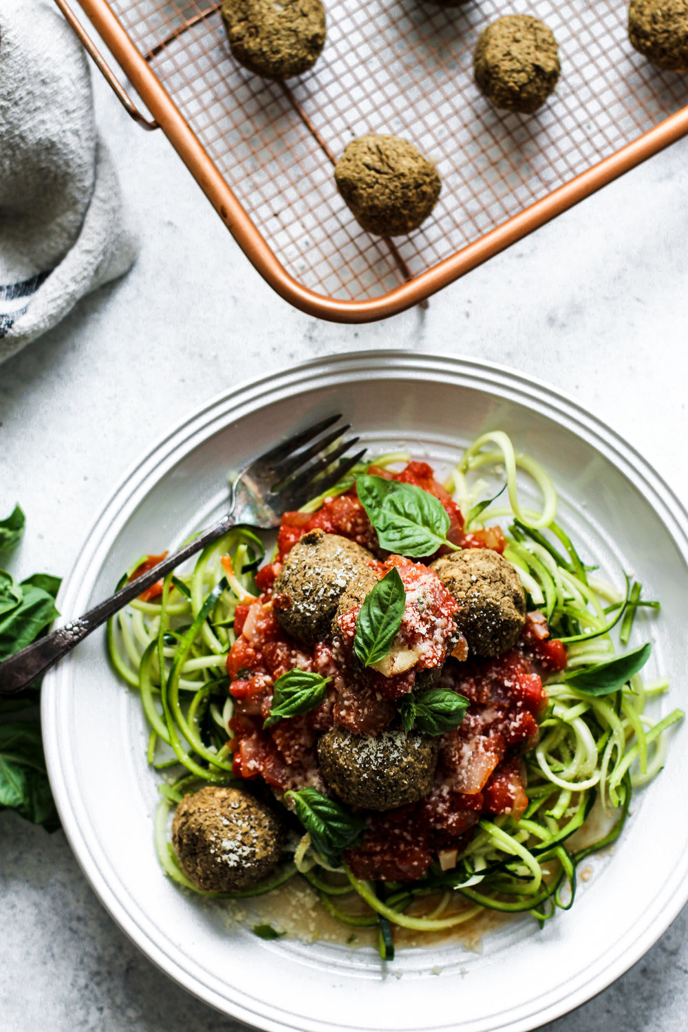 Easy Lentil Meatballs with Homemade Marinara: My Diary of Us