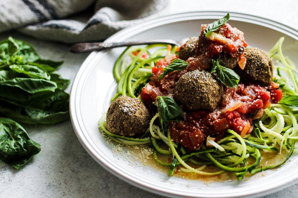 Easy Lentil Meatballs with Homemade Marinara: My Diary of Us