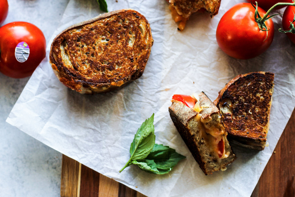Grilled Tomato and Cheese Sandwiches: My Diary of Us