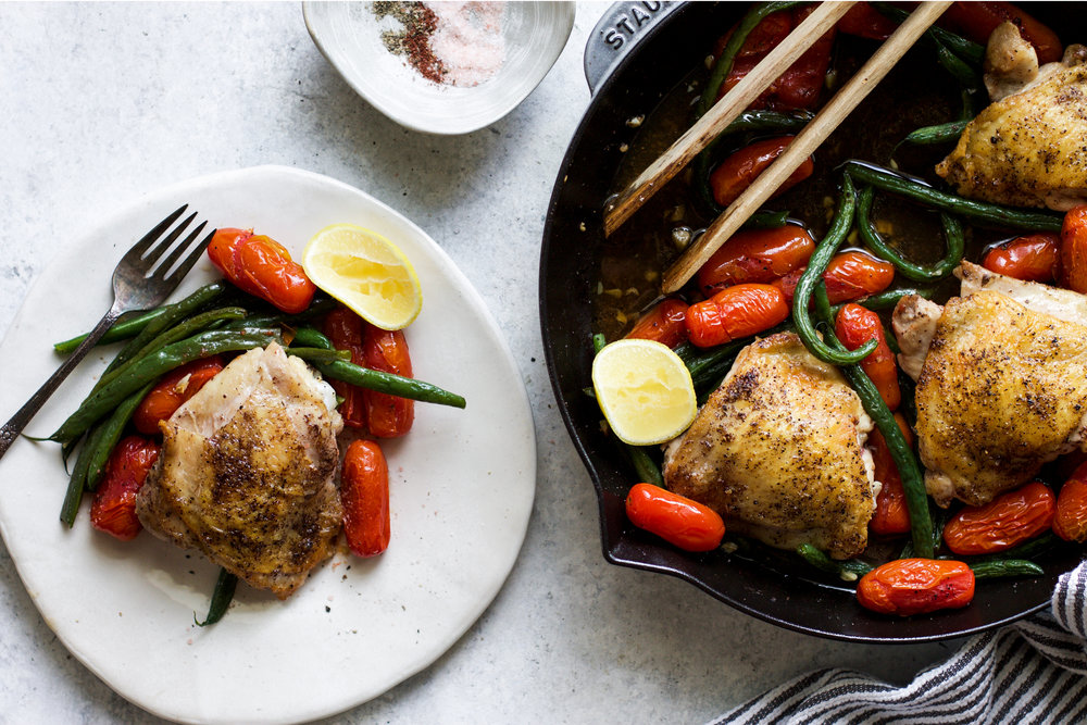 Skillet Chicken with Green Beans and Tomatoes: My Diary of Us