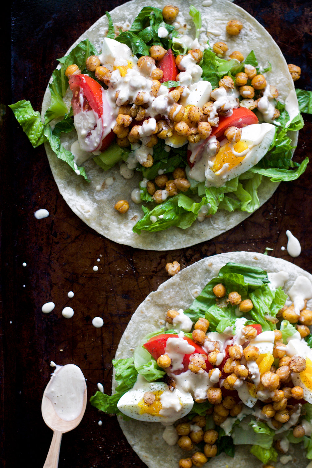 Roasted Chickpea Caesar Wraps: My Diary of Us