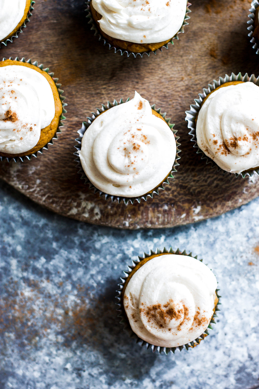 Pumpkin Cupcakes with Spiced Cream Cheese Frosting: My Diary of Us