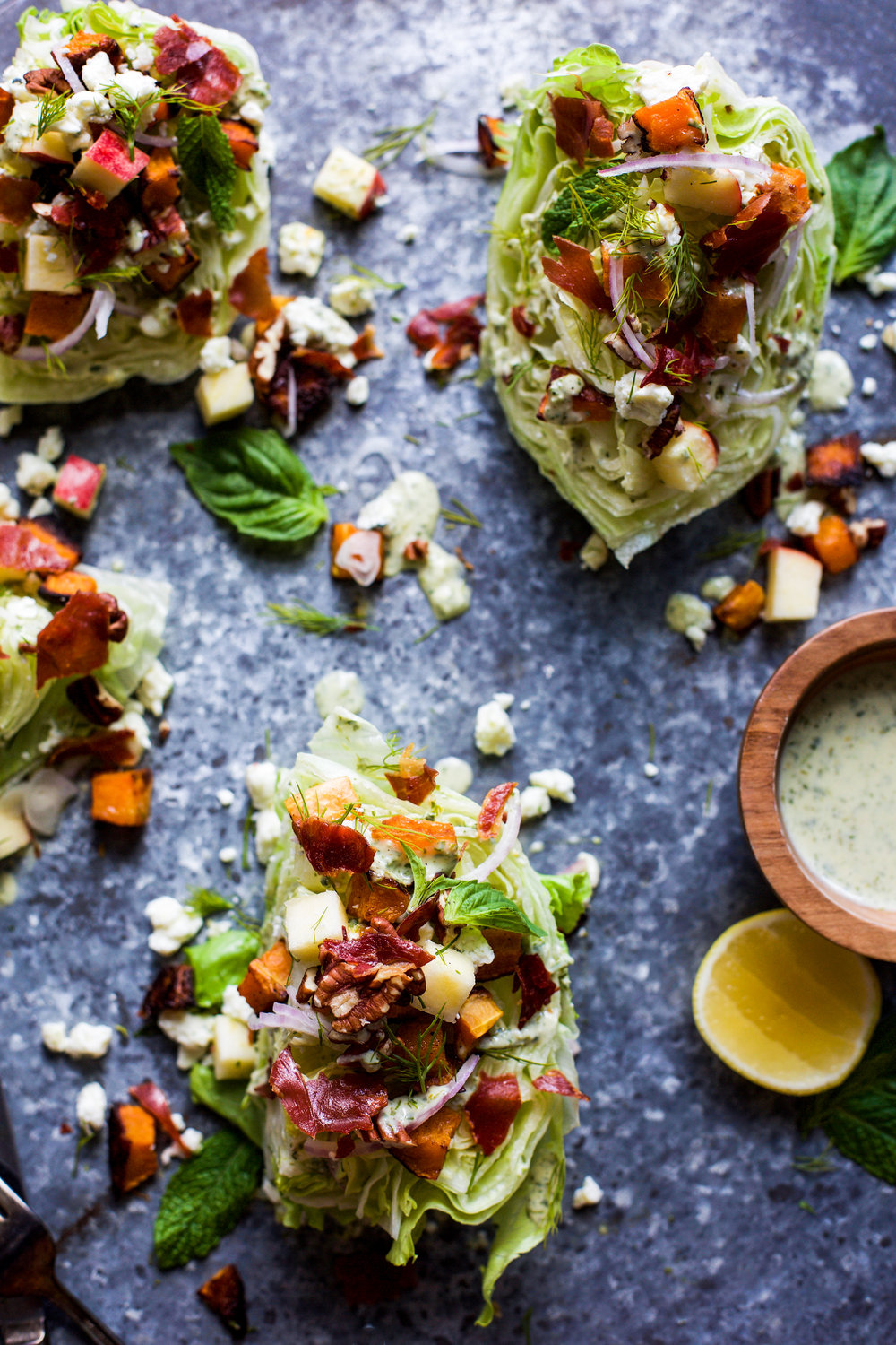 Autumn Wedge Salad with Green Goddess Dressing: My Diary of Us
