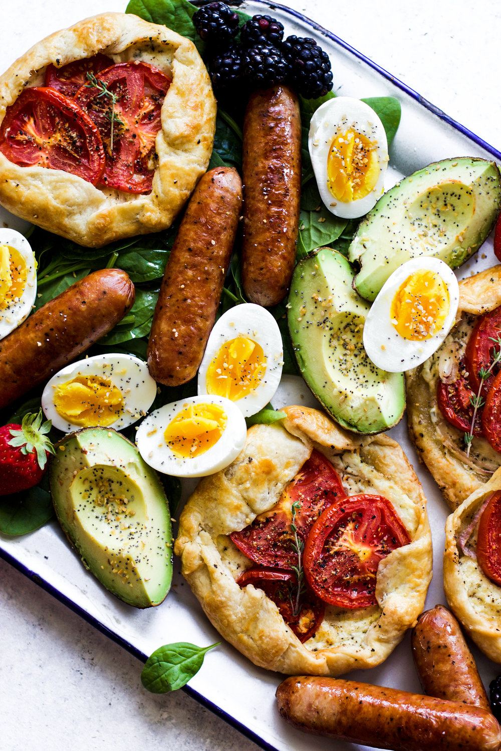 Easy Tomato Galette Breakfast Platter: My Diary of Us