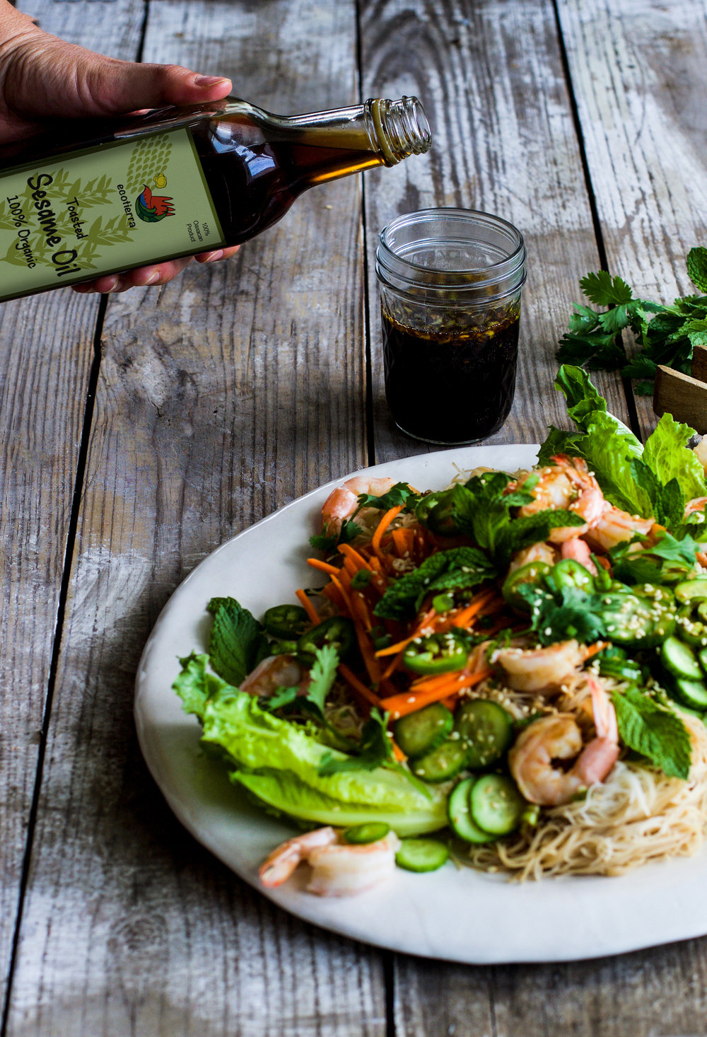 Shrimp Spring Roll Salad: My Diary of Us