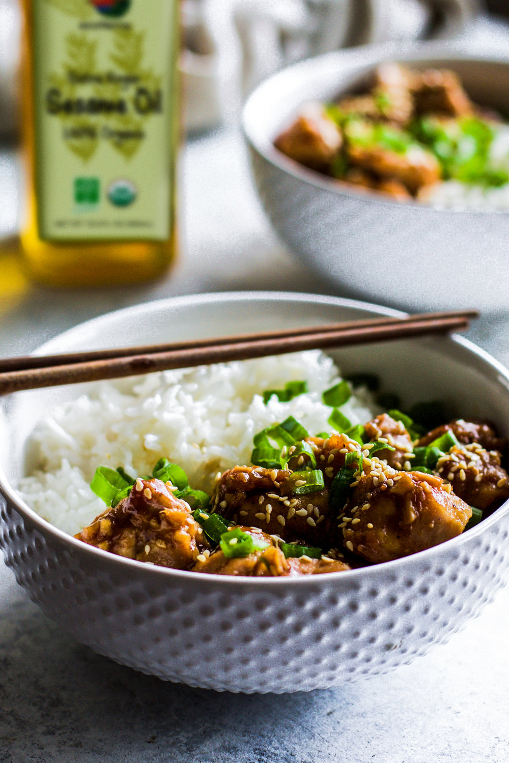 Spicy Garlic Sesame Chicken: My Diary of Us