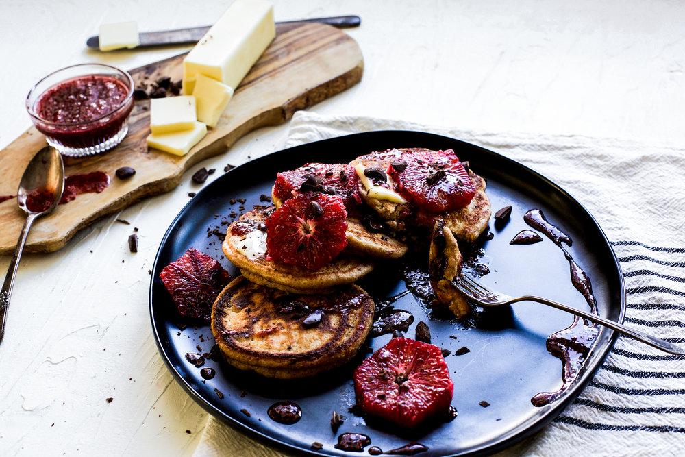 Whole Wheat Dark Chocolate Chip Pancakes: My Diary of Us