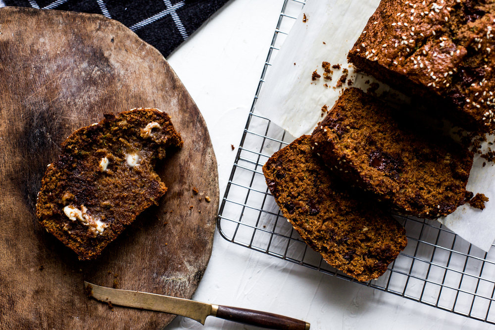 Whole Wheat Zucchini Tahini Bread: My Diary of Us