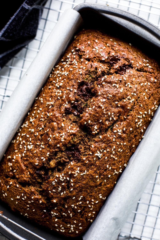 Zucchini Tahini Bread: My Diary of Us