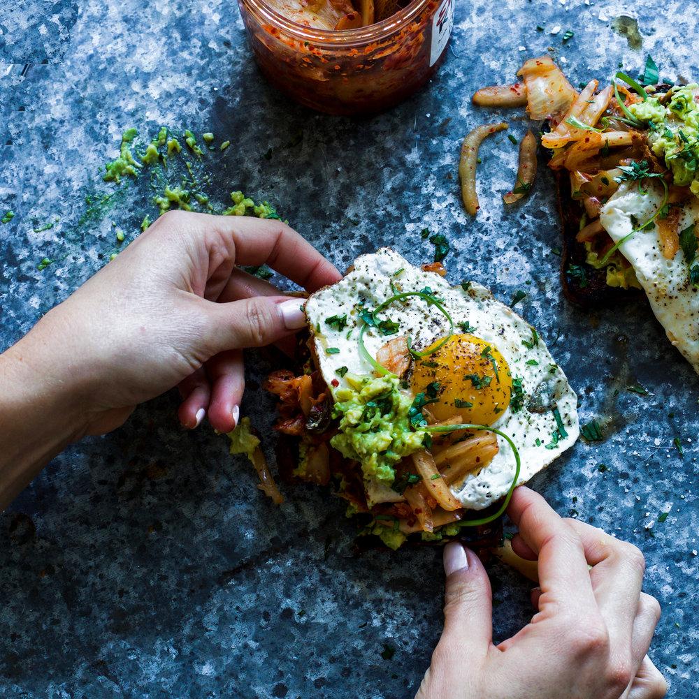 Spicy Kimchi Avocado Toast: My Diary of Us