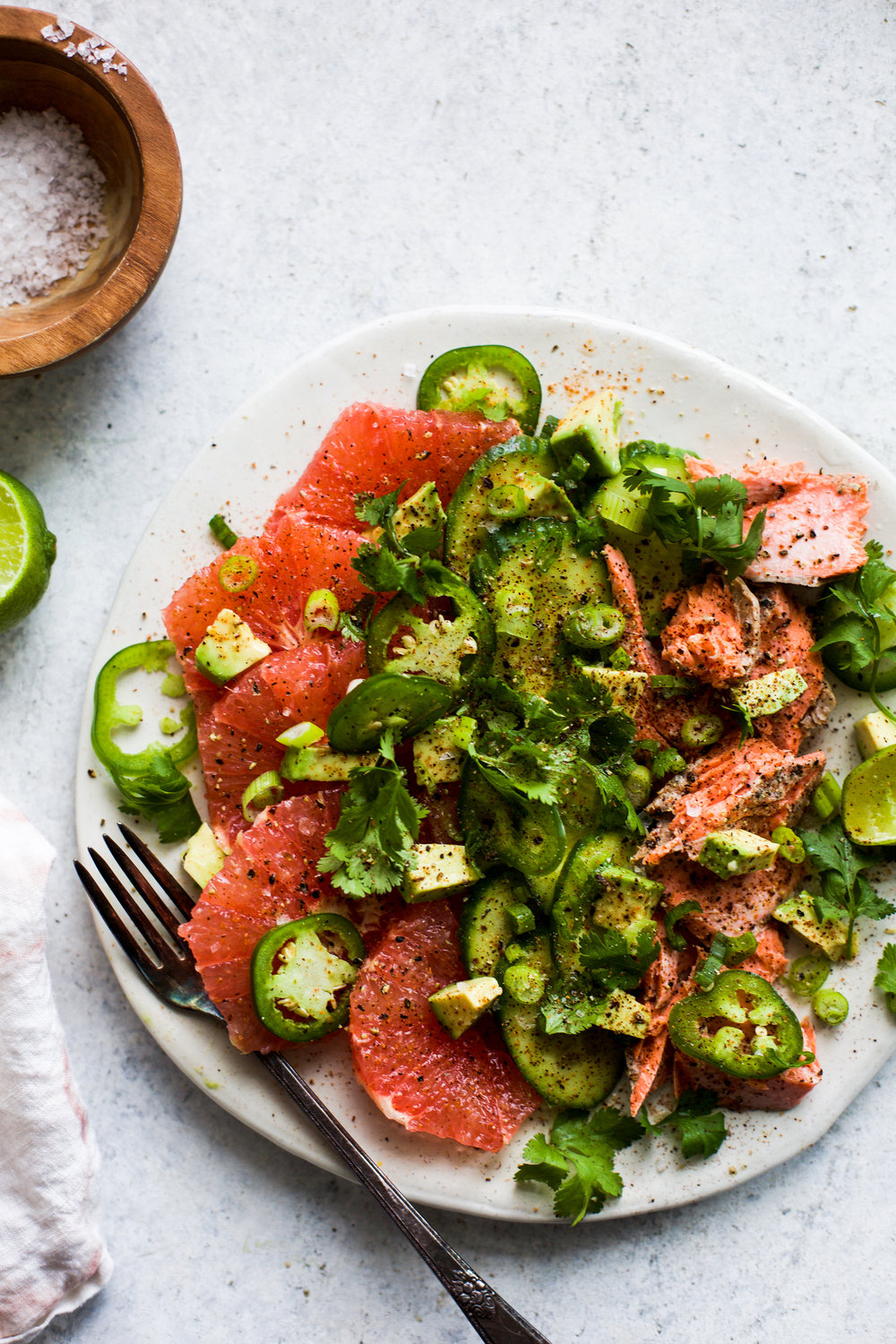 Chili Grapefruit Salmon Salad: My Diary of Us