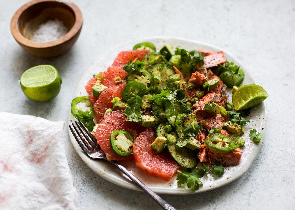 Chili Grapefruit Salmon Salad: My Diary of Us