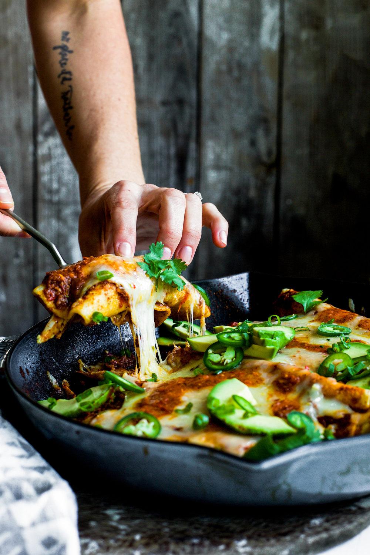 Chipotle Chicken Skillet Enchiladas