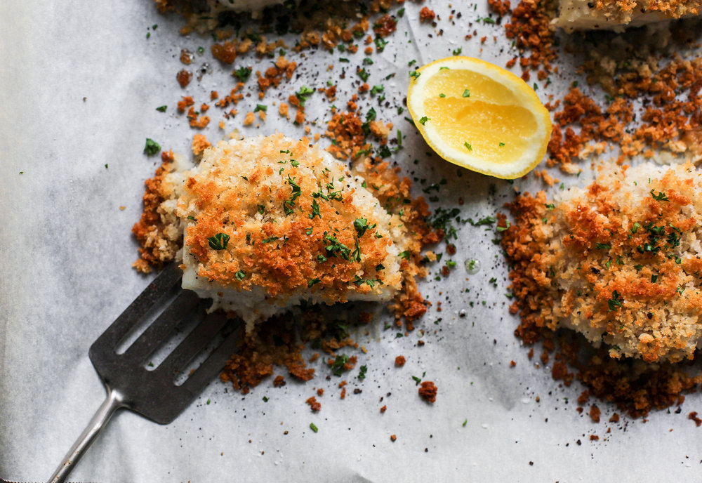 Easy Panko Crusted Baked Cod Fish