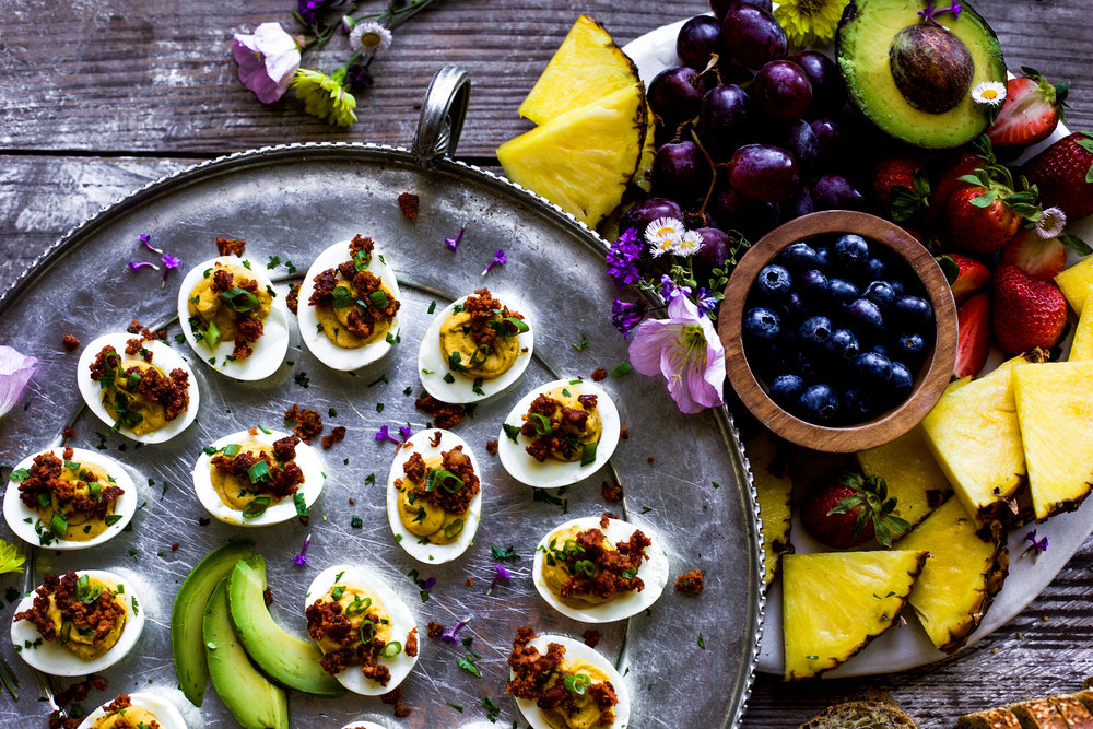Chorizo Deviled Eggs Brunch Spread