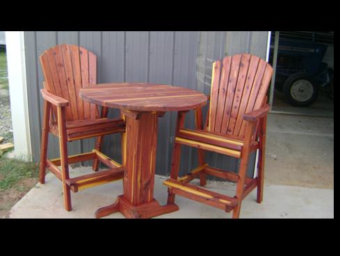 cedar bar stools.png - Cedar & Treated Pine — Mayse Mfg. Co. Outdoor Products