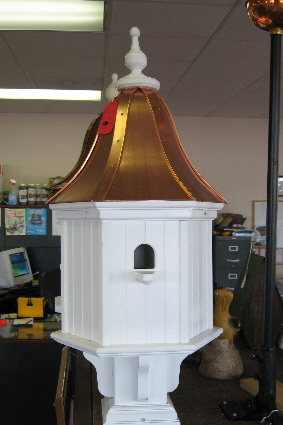 12 Quot Vinyl Birdhouse With Perch Copper Top Vinyl Copper