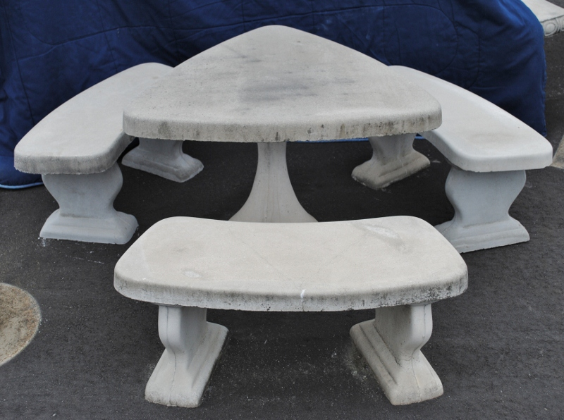 Benches And Tables Mayse Mfg Co Outdoor Products - Stone picnic table set