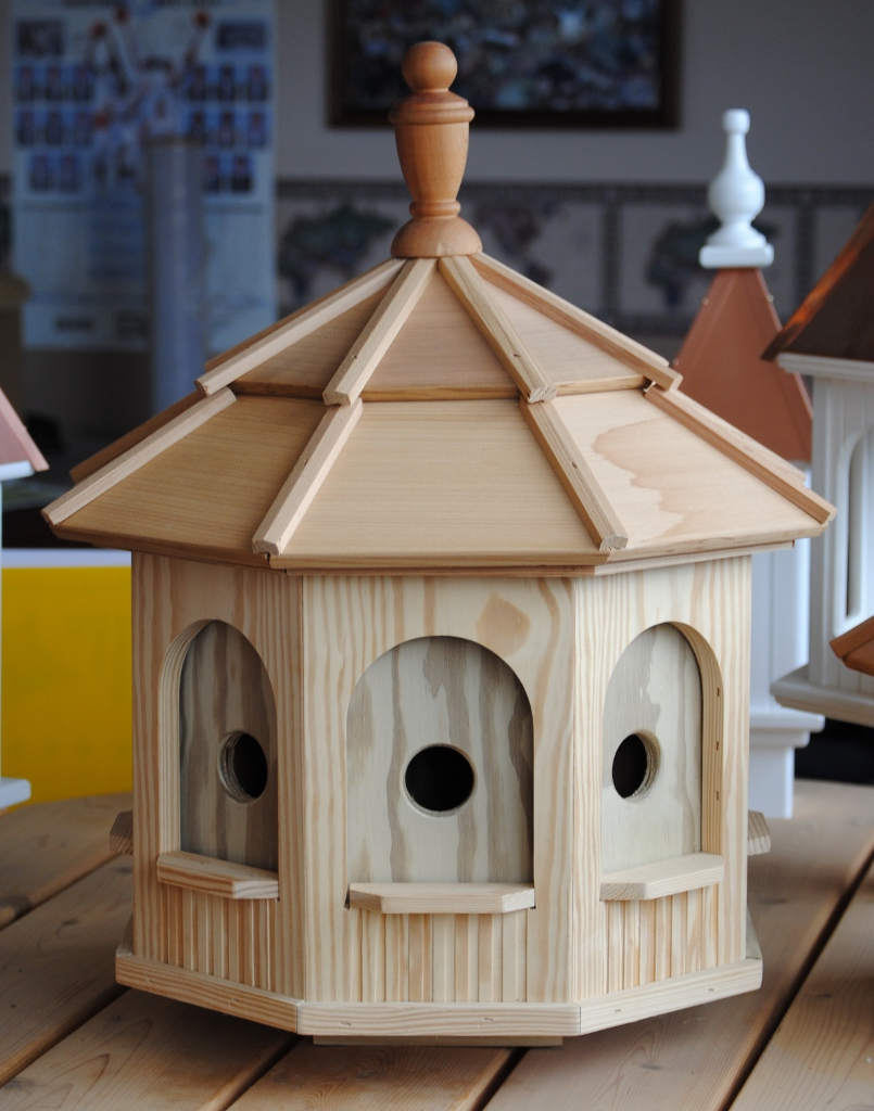 Large Wooden Octagon Bird House Wooden Birdhouses And
