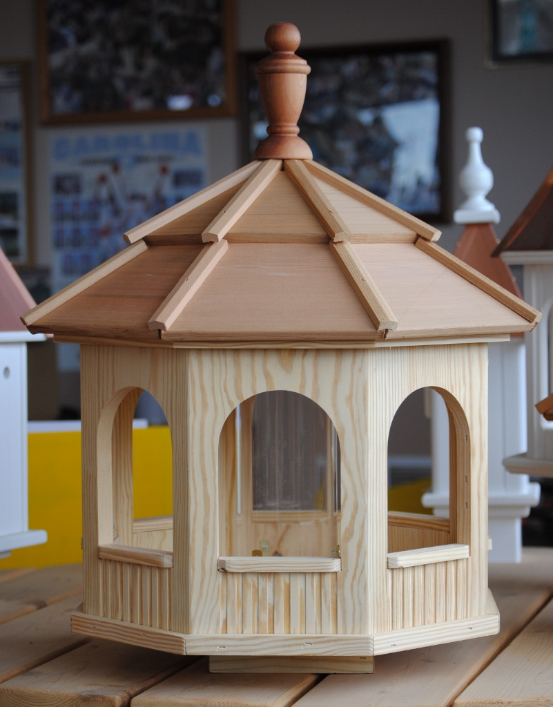 Large Octagon Wooden Birdfeeder —Wooden Birdhouses and ...