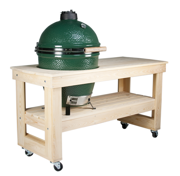 Large Table with caster wheels. Big Green Egg   Mayse Mfg  Co  Outdoor Products
