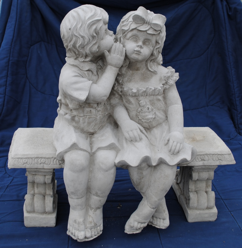 Wonderful Whispering Kids On Bench
