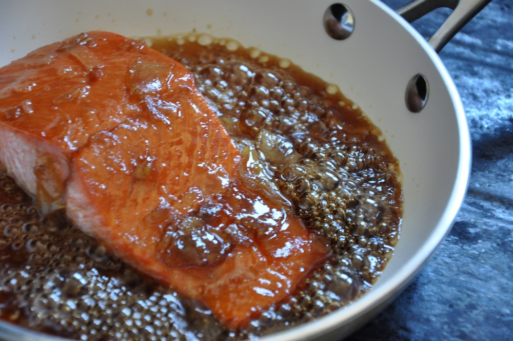 In the Polished Brands test kitchen and photo studio, we mess with everyone's traditions — like cooking sockeye salmon in a Korean ginger marmalade. And it was good too.