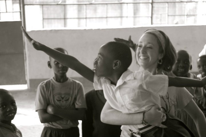 Ms. Panzica in Africa