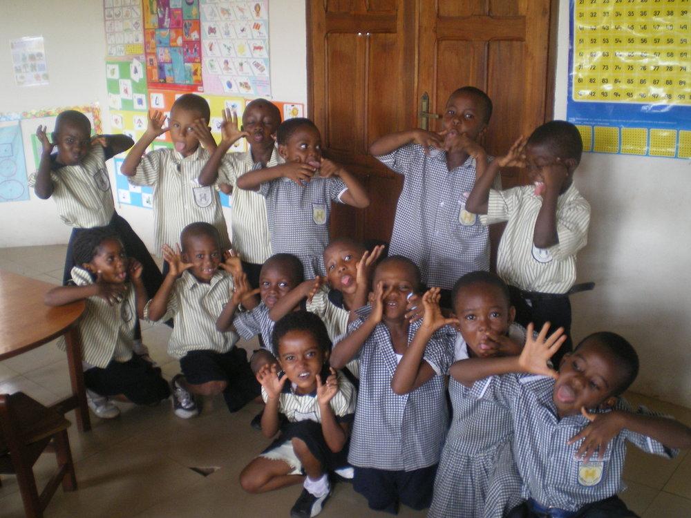 La clase de Sra. Dorce en África