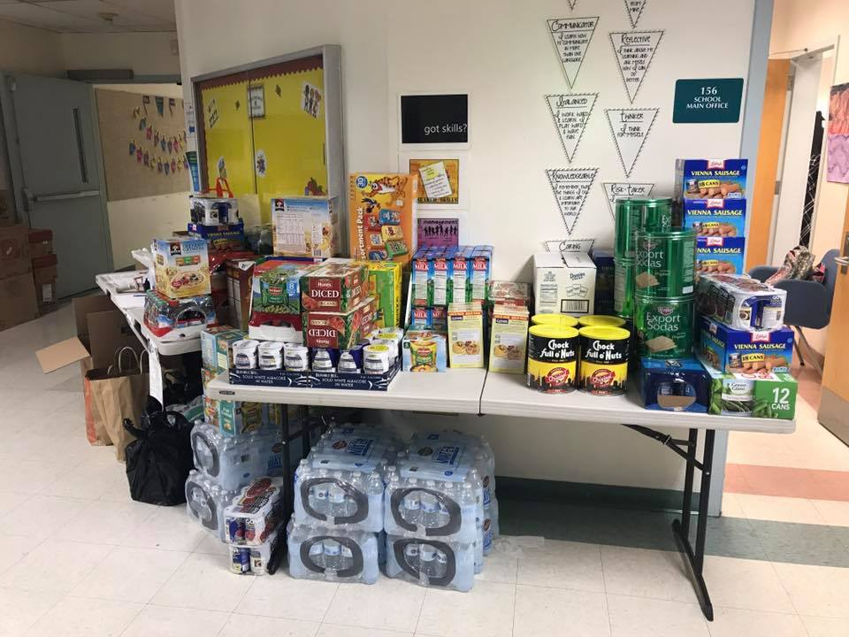 Donations from the GCCS family to our friends in need.