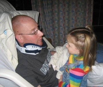 Daddy and Zoe right after the accident